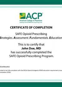 ACP SAFE Opioid Prescribing 2017 (Videos)