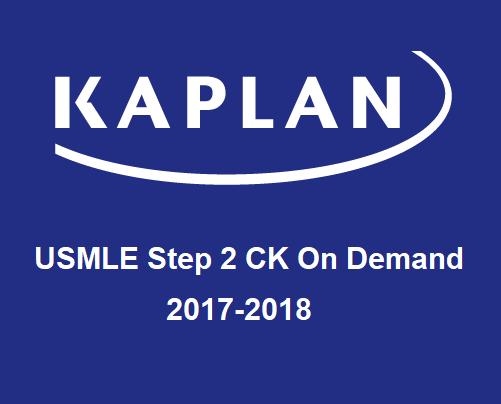 KAPLAN USMLE Step 2 CK Prep - On Demand 2017-2018 (Videos)