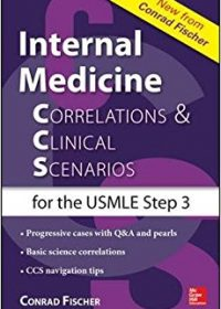 Internal Medicine Correlations and Clinical Scenarios (CCS) USMLE Step 3, 1e (Original Publisher PDF)