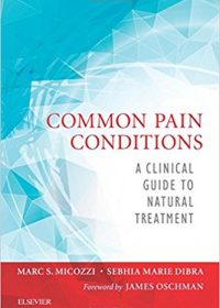 Common Pain Conditions: A Clinical Guide to Natural Treatment, 1e (Original Publisher PDF)
