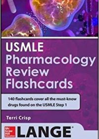 USMLE Pharmacology Review Flash Cards, 1e (Original Publisher PDF)