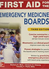 First Aid for the Emergency Medicine Boards, 3e (Original Publisher PDF)