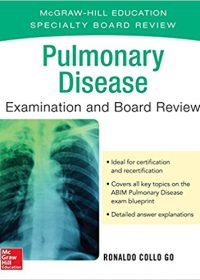 Pulmonary Disease Examination and Board Review, 1e (Original Publisher PDF)
