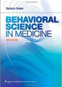 Behavioral Science in Medicine, 2e (Original Publisher PDF)