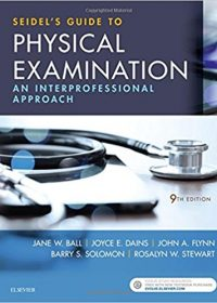 Seidel's Guide to Physical Examination: An Interprofessional Approach, 9e (True PDF)