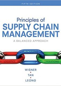 Principles of Supply Chain Management: A Balanced Approach, 5e (Original Publisher PDF)