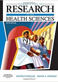 Introduction to Research in the Health Sciences, 5e (Original Publisher PDF)