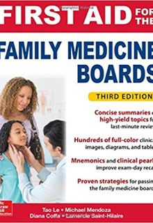First Aid for the Family Medicine Boards, 3e (Original Publisher PDF)