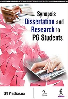 Synopsis Dissertation and Research to PG Students, 2e (True PDF)