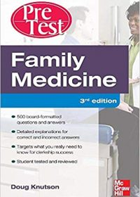Family Medicine PreTest Self-Assessment And Review, 3e (Original Publisher PDF)
