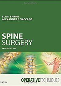 Operative Techniques: Spine Surgery, 3e (Original Publisher PDF)