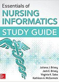 Essentials of Nursing Informatics Study Guide, 1e (Original Publisher PDF)