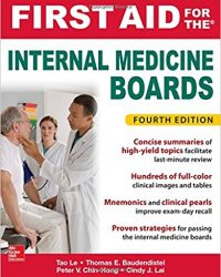 First Aid for the Internal Medicine Boards, 4e (Original Publisher PDF)