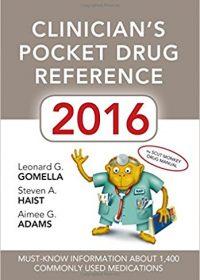 Clinician's Pocket Drug Reference 2016 (Original Publisher PDF)