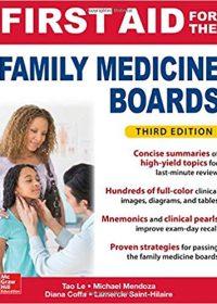 First Aid for the Family Medicine Boards, 3e (Original Publisher PDF)