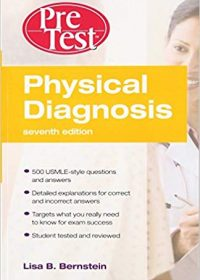 Physical Diagnosis PreTest Self Assessment and Review, 7e (Original Publisher PDF)