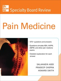 McGraw-Hill Specialty Board Review Pain Medicine, 1e (EPUB)